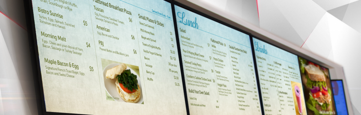 Digital Menu Sign